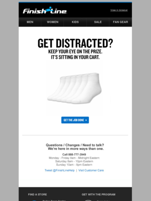 Finish Line's first abandon mailer